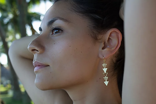 ADORN Shark Tooth Earrings - Silver or Gold