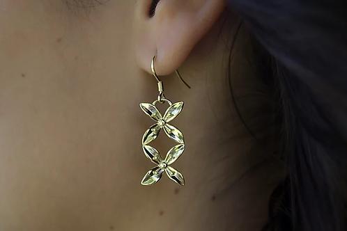 ADORN Frangipani Bua Earrings - Silver or Gold