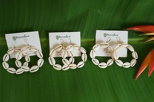 HANALEIA Cowrie Hoop Earrings