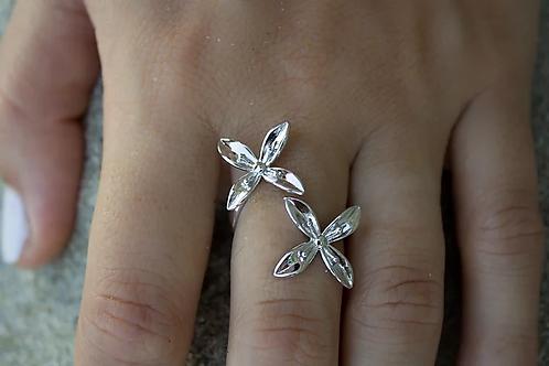 ADORN Frangipani Bua Ring - Silver or Gold