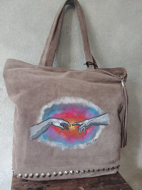 """Michelangelo's hands"" bag"