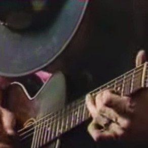 Stevie Ray Vaughan -  Acoustic Guitar Solo Improvisation - 1983