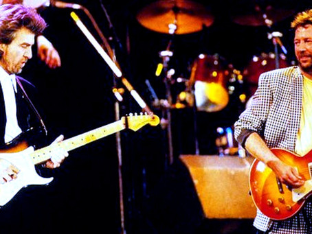 """George Harrison & Eric Clapton - """"While my Guitar Gently Weeps"""" - Live 1988"""