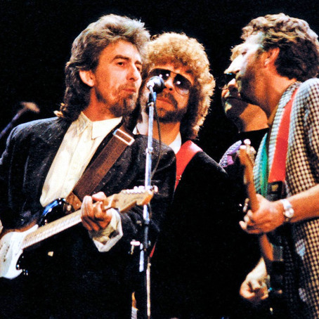 """George Harrison and Eric Clapton - """"While my Guitar Gently Weeps"""" - Live 1987"""