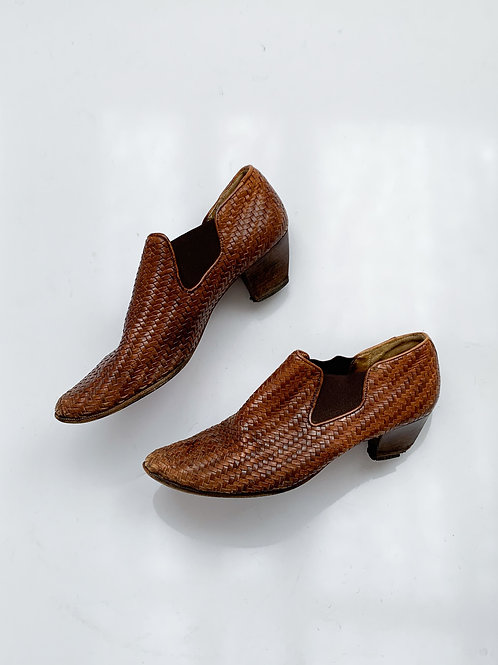 Woven Ankle Boots   US 11.5