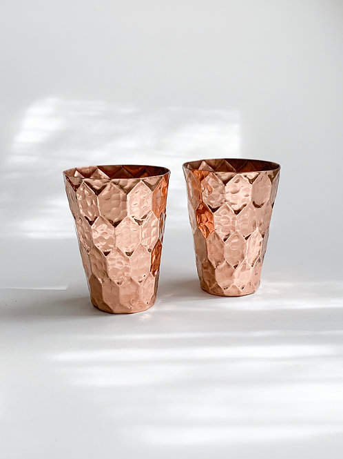 Hammered Copper Tumblers