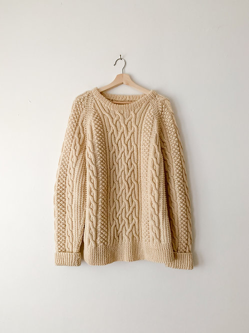 Wool Aran Sweater