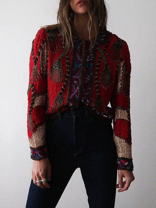 Sequined Red Jacket