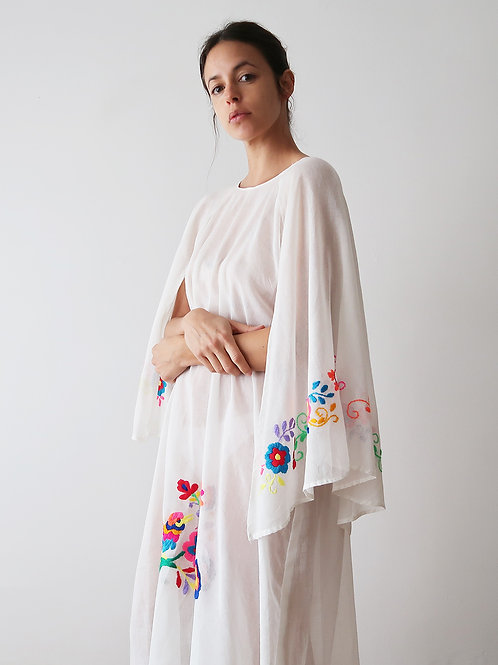 Sheer Embroidered Dress