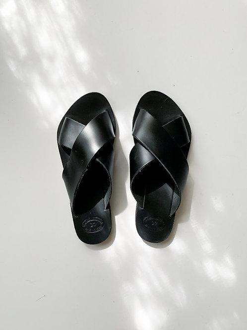Rhodes Leather Sandal | Black