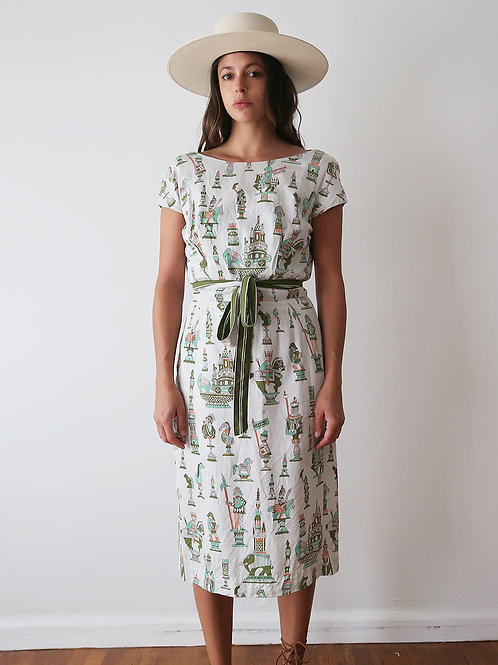 J'adoube Print Dress