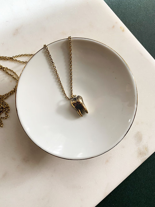Brass Tooth Necklace