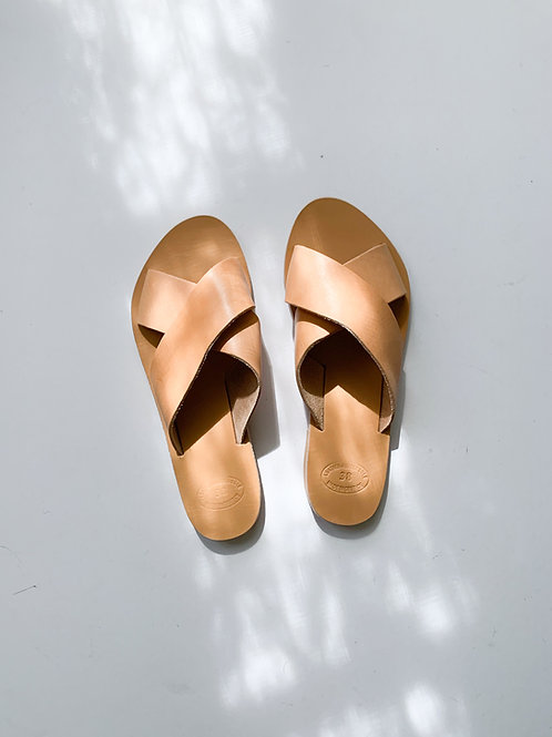 Rhodes Leather Sandal | Natural