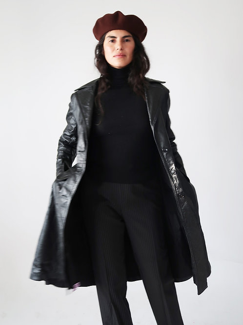Black Leather Duster