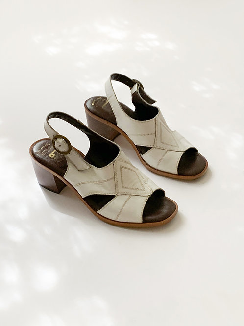 Italian Block Heel Sandals | US 5