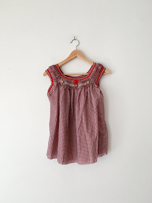 Gingham Southwest Top