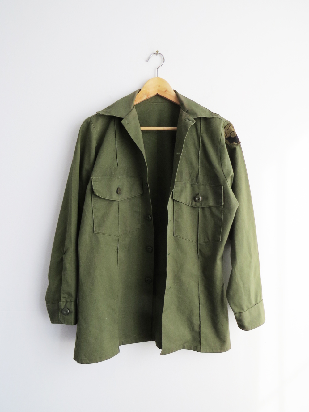 Olive Green Military Shirt