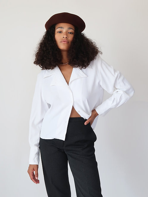 70's Pointed Collar Blouse