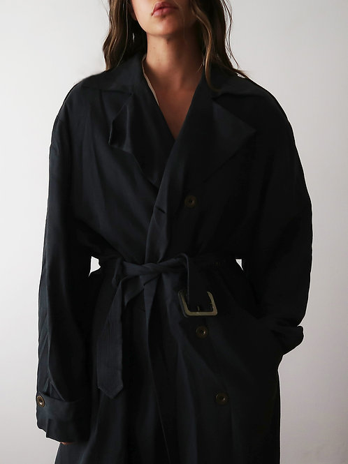 Black Silk Trench