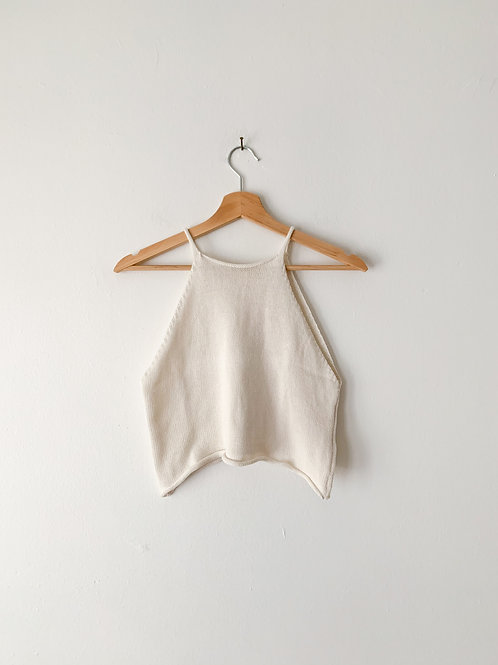 Cropped Knit Top | crema