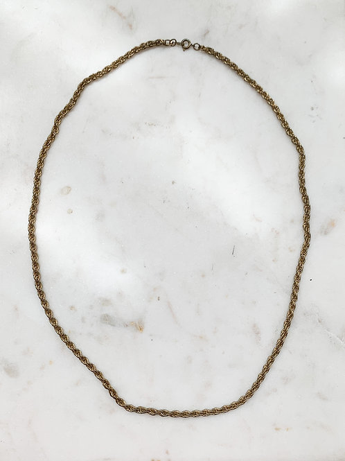 Brass Rope Chain Necklace