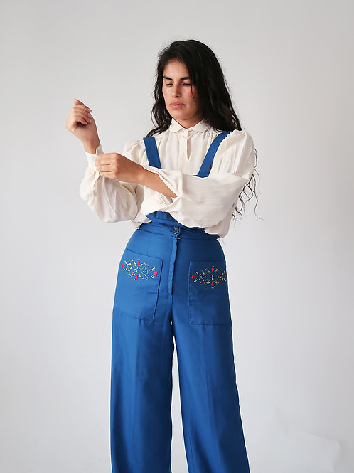 Folk Embroidered Overalls
