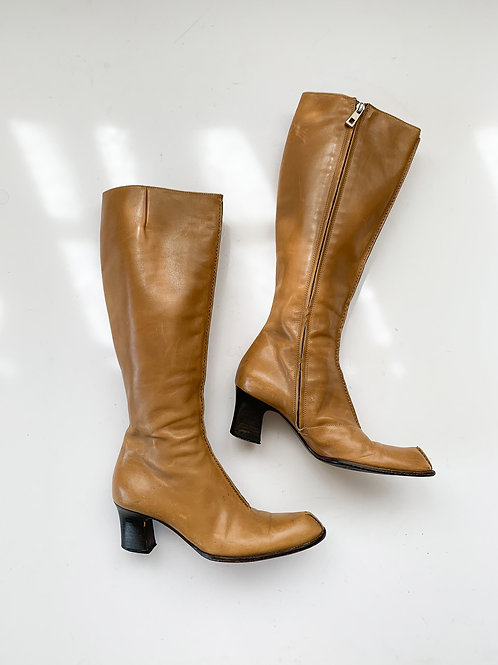 Tan Leather Boots |  US 7.5