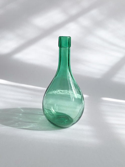 Italian Glass Bottle Vase