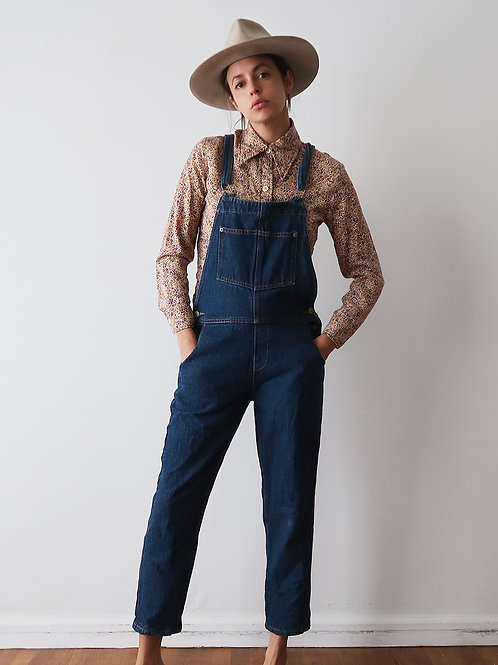 Fitted Dark Wash Overalls