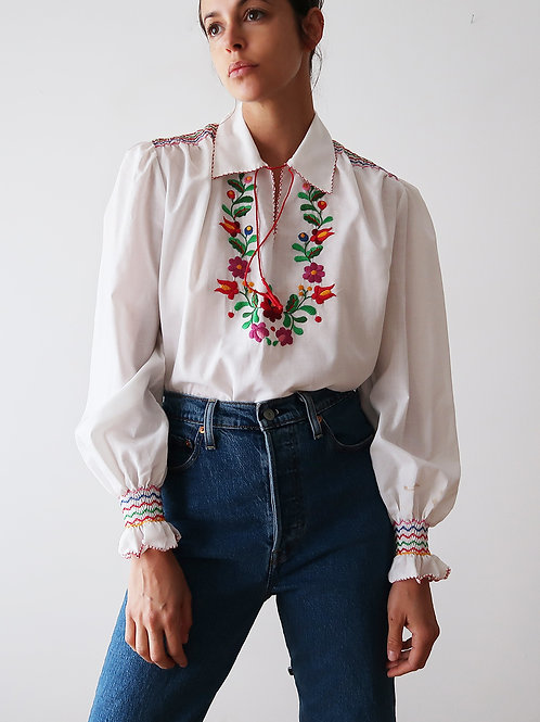 Embroidered Hungarian Blouse