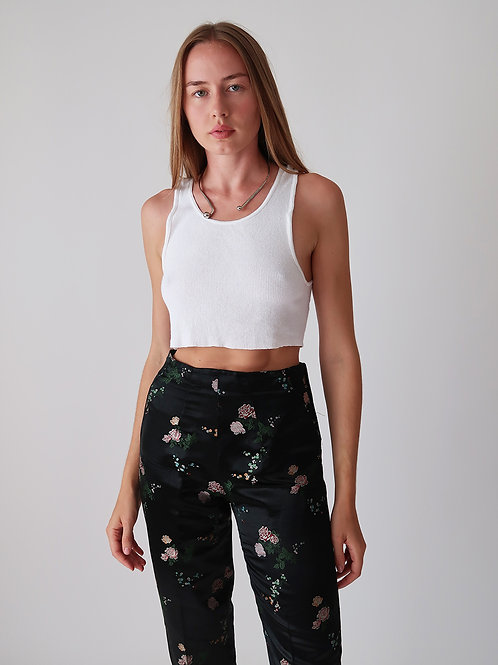 Distressed Cropped Tank