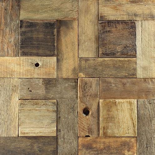 Caribbean 04 Organic Natural Timber Panels 300x300mm