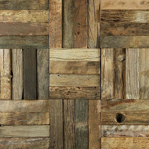 Caribbean 07 Organic Natural Timber Panels 300x300mm
