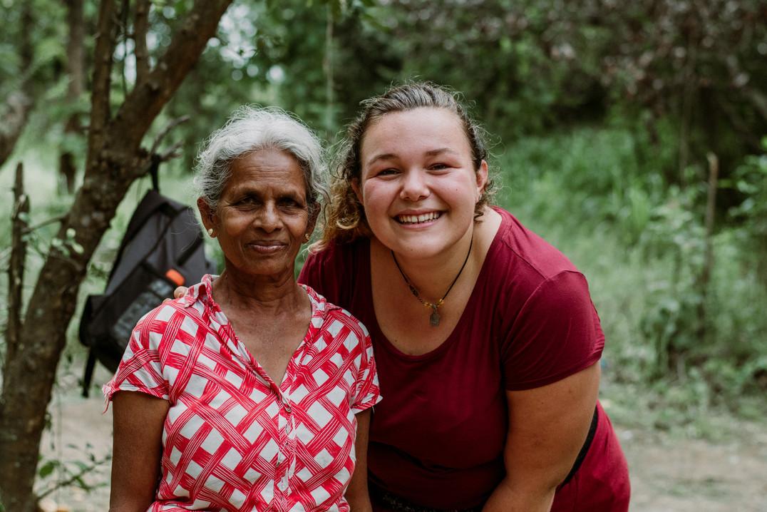 Our volunteers visit local farmers