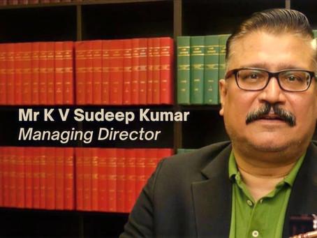 Magna Law Corporation welcomes veteran lawyer Mr K V Sudeep Kumar as Managing Director