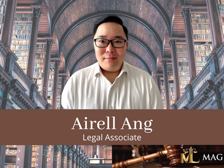 Magna Law Corporation welcomes Airell Ang as legal associate