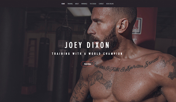 Sport & Recreation website templates – The Boxer