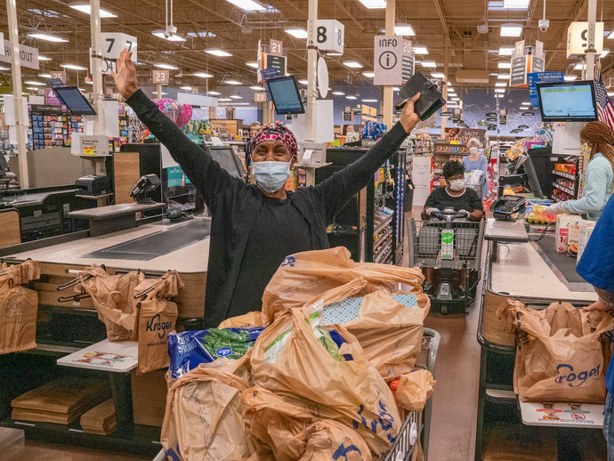 Tyler Perry surprised seniors and at-risk shoppers by buying their groceries at 44 stores across Atl