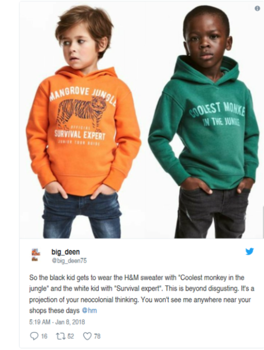 H&M apologizes for 'Coolest Monkey' sweatshirt ad featuring black child