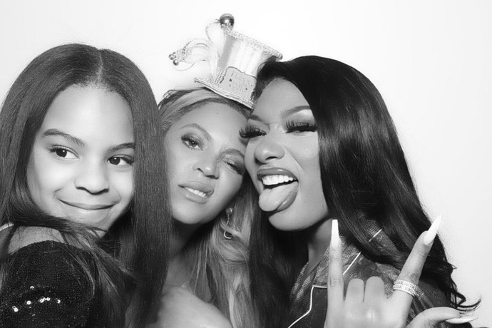 MEGAN THEE STALLION SHEDS TEARS IN CELEBRATION OF BEYONCE COLLABORATION