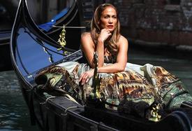 Jennifer Lopez Stuns in Dolce & Gabbana Gown for Gondola Photo Shoot