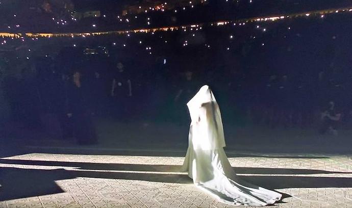 Kim Kardashian West Shares New Photos of Wedding Dress from  Donda Listening Experience