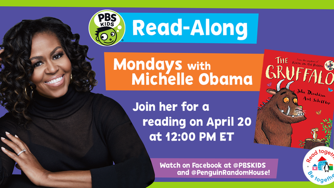 Michelle Obama is hosting virtual read-alongs for kids every Monday