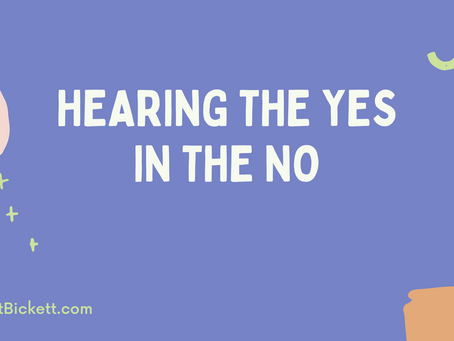 Hearing the YES in the NO