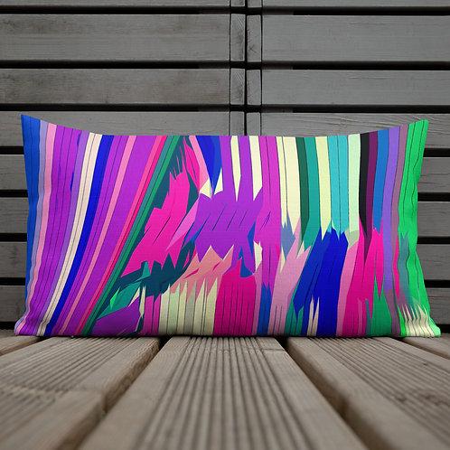 Zig Zag Colorful Stripe Premium Pillow