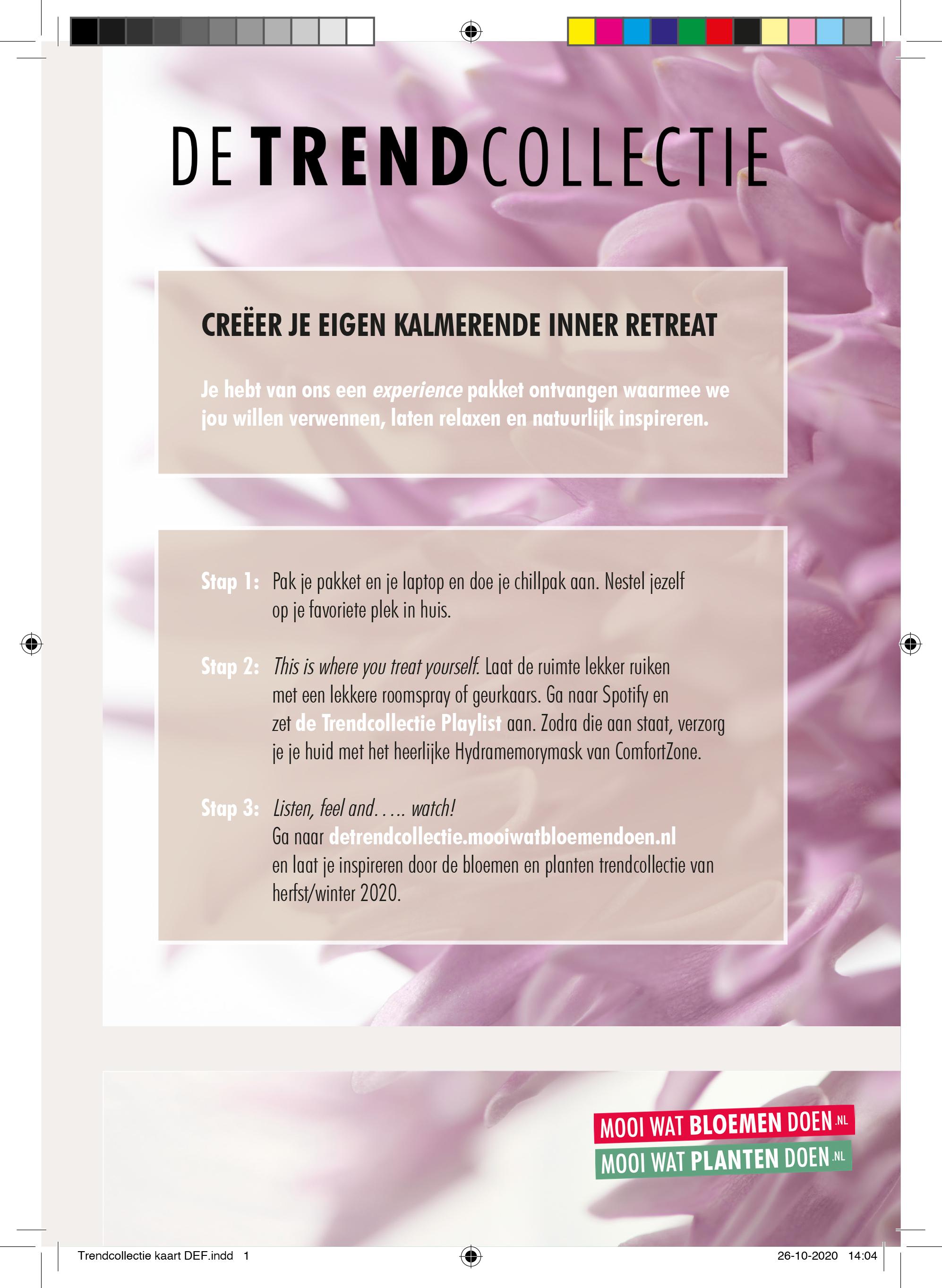 Trendcollectie kaart - Bloemenbureau Holland