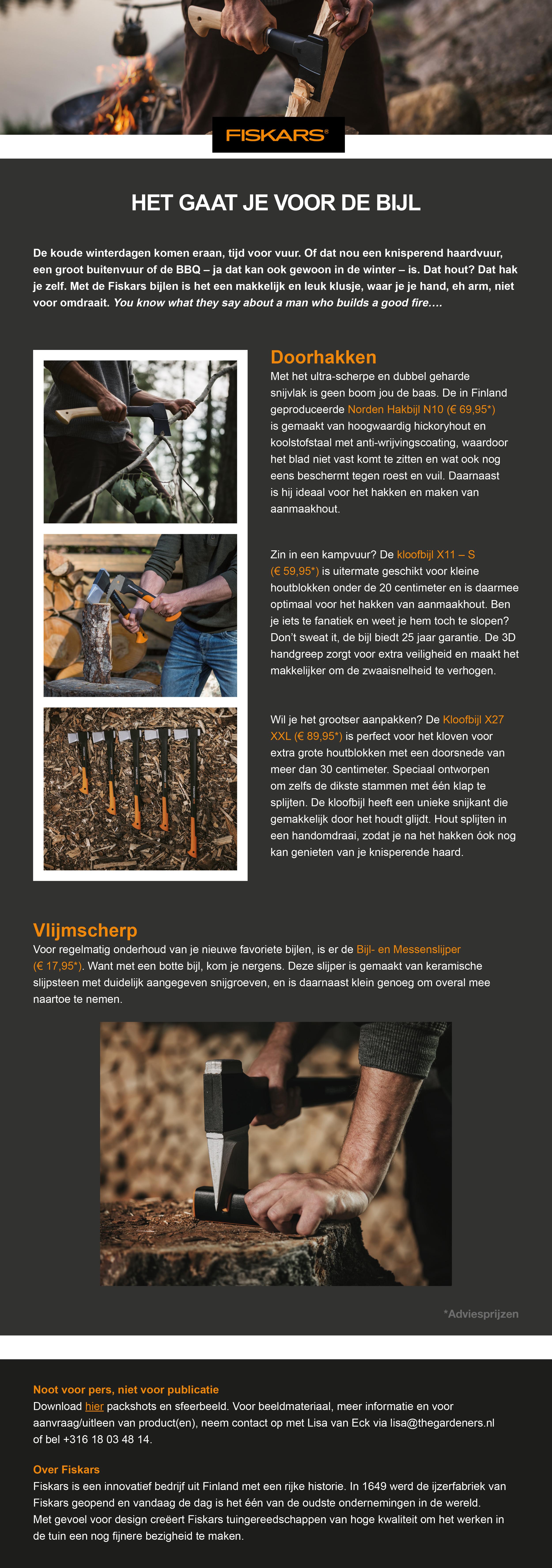 Persbericht - Fiskars