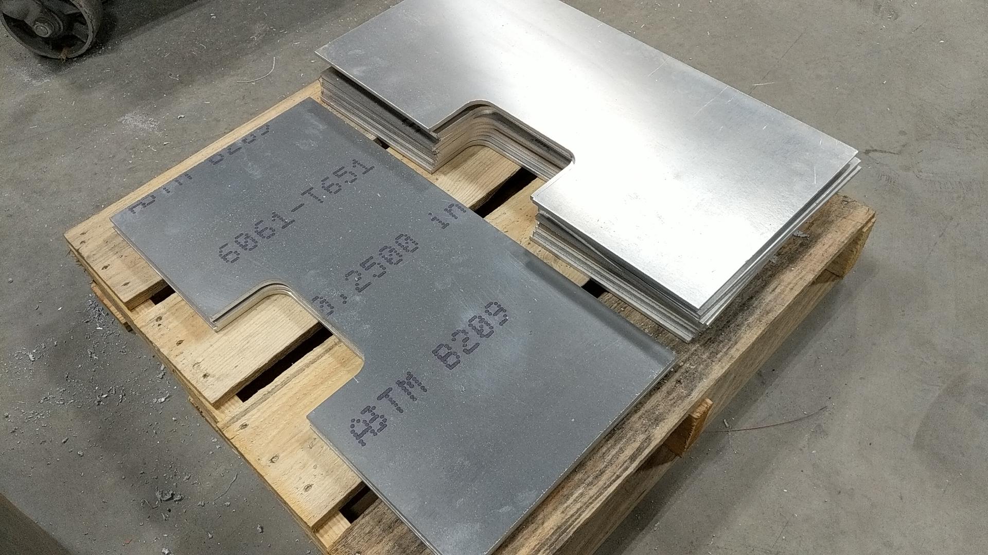 """1/4"""" thick 6061T6 plasma cut parts"""