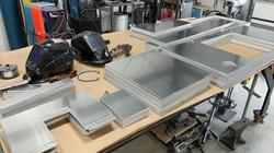 Plasma cut aluminum sheet metal