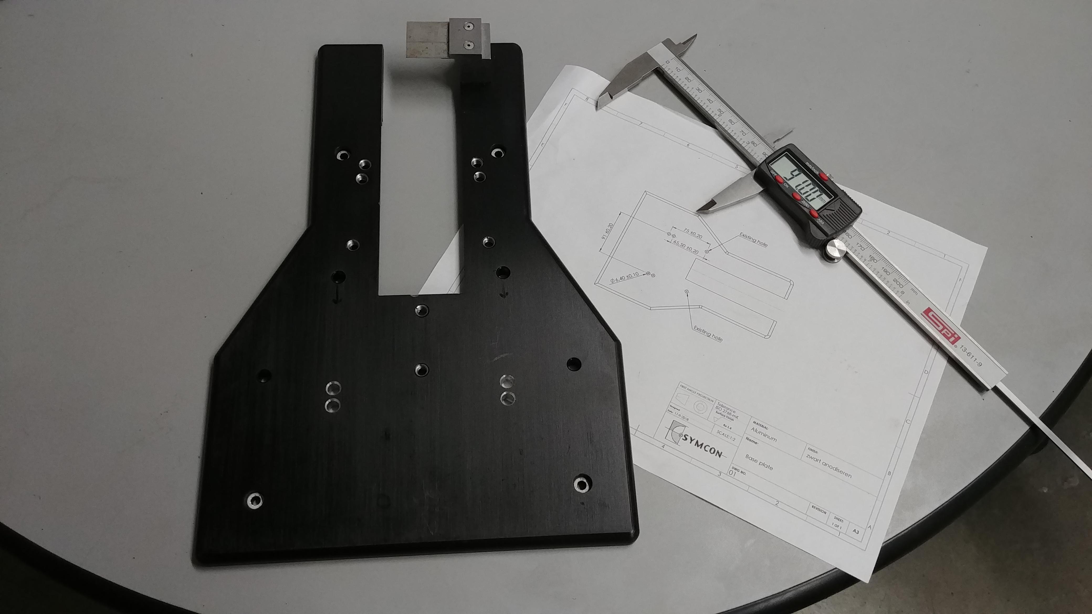 Precision machined aluminum parts